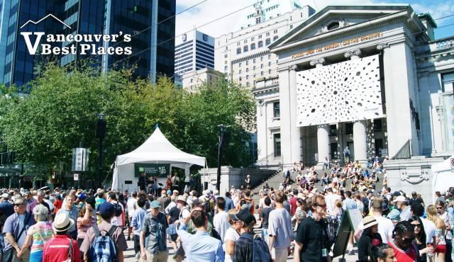 Robson Street Jazz Stage