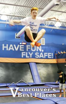 Boy Flying at Sky Zone