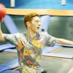 Boy at Sky Zone Dodgeball