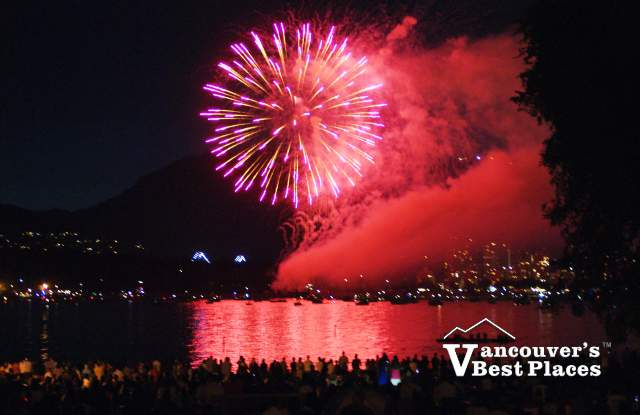 Fireworks from Central Kits Beach