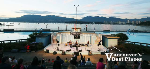 Kitsilano Showboat Venue and English Bay