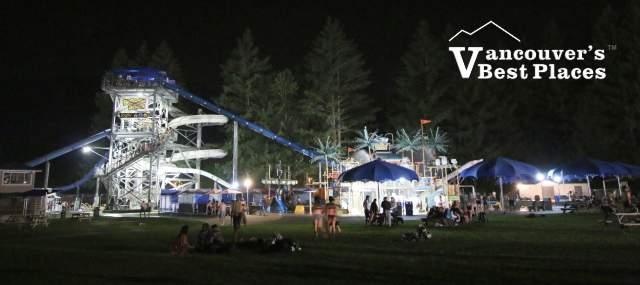 Cultus Lake Waterpark at Night