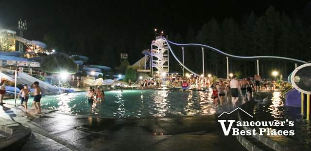 Night Time at Cultus Lake Waterpark