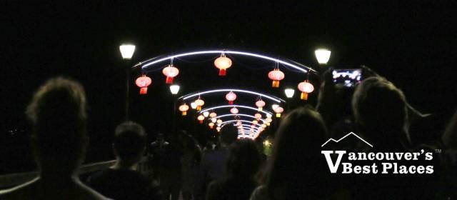 People Under Moon Lanterns