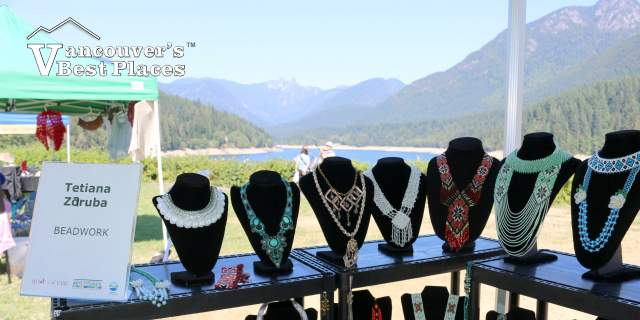 Beadwork at the Cleveland Dam