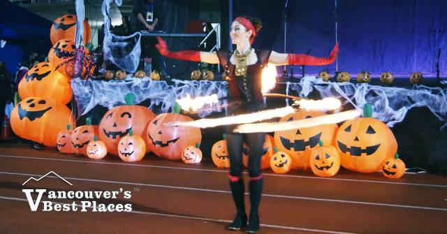Richmond Halloween Fire Dancer