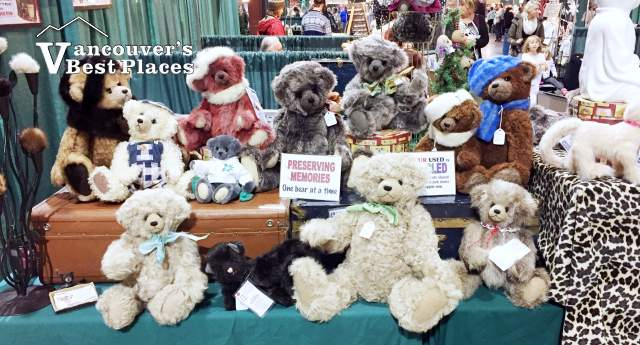 Craft Fair Display of Handmade Teddy Bears