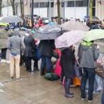 Rainy Day Santa Parade