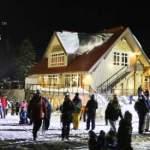 Mt. Seymour's Enquist Lodge at Night