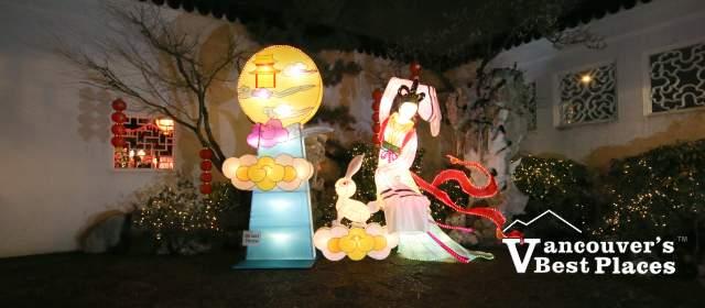 Lanterns in Garden at Dr. Sun Yat-Sen Garden