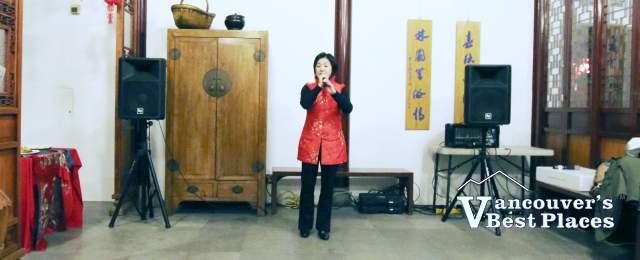 Opera Singer at Dr. Sun Yat-Sen Garden