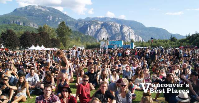 Stawamus Chief and Squamish Festival Crowds