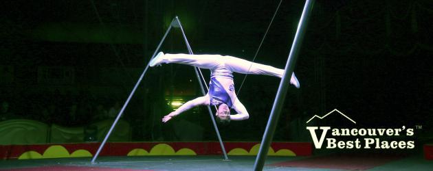 Chinese Slack Wire Acrobat