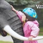Girl on Zoo Elephant Statue