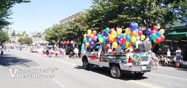 Ambleside Parade Float on Marine Drive