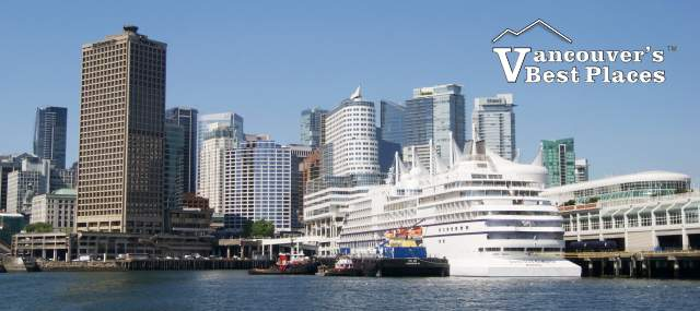 Cruise Ship by Stanley Park Seawall