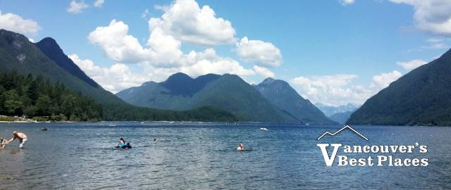 People Swimming at Alouette Lake