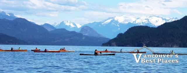 Sasquatch Days Canoes on Harrison Lake