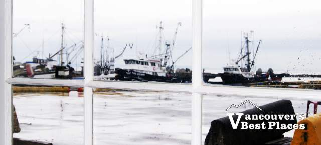 Steveston Window on a Rainy Day