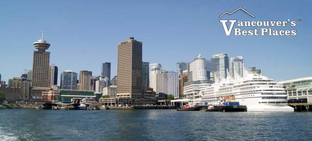 Vancouver Skyline with Docked Cruise Ship