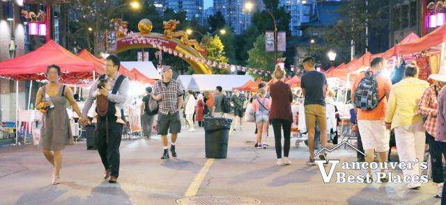Chinatown Festival at Night