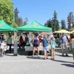 Coquitlam Shoppers and Market Stalls