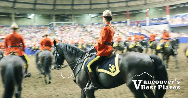 Officers in RCMP Musical Ride