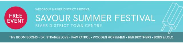 Savour Summer Festival Banner Ad