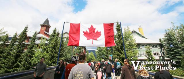 Whistler Village on Canada Day