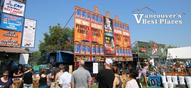 Langley Ribfest Rib Vendor Crowds