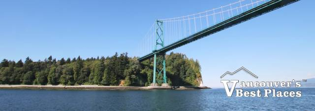 Lions Gate Bridge and Stanley Park from the Water