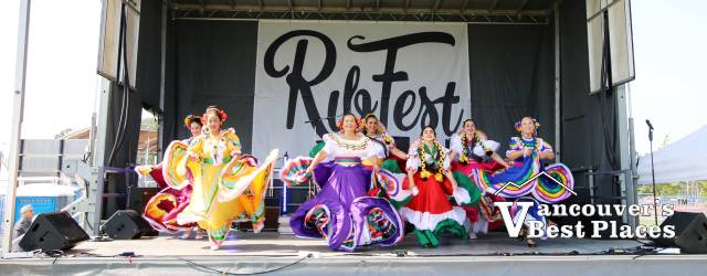 Mexican Dancers on Ribfest Langley Stage