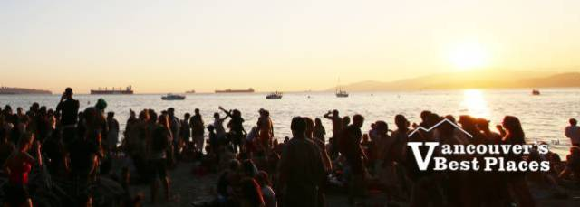 Third Beach Drumming Sunset Silhouettes