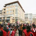 Chinese New Year Crowds at Wesbrook Plaza