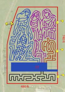 Three Sisters Mazes at Fantasy Farms