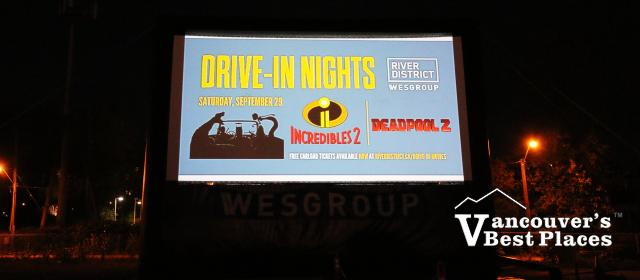 Drive-In Movie Nights at the River District