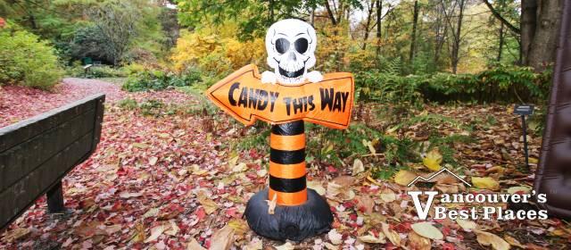 Halloween Candy Sign at VanDusen Garden