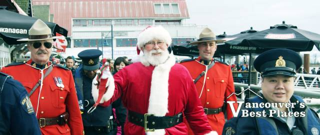 Santa Police Escort in Steveston Village