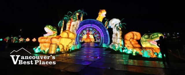 Art of Lights Dinosaur Tunnel Lanterns