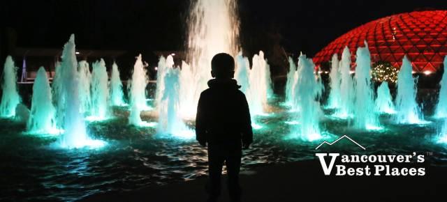 Bloedel Fountain at Night