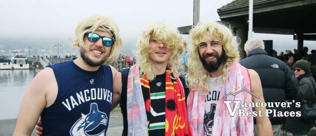 Guys in Costume at Port Moody Swim