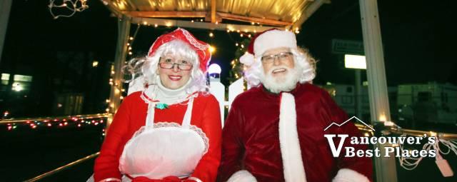 Santa and Mrs. Claus in Aldergrove