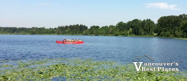 Deer Lake Canoe and Lily Pads