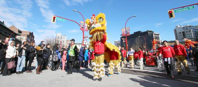 Lion Dance in Chinese New Year Parade