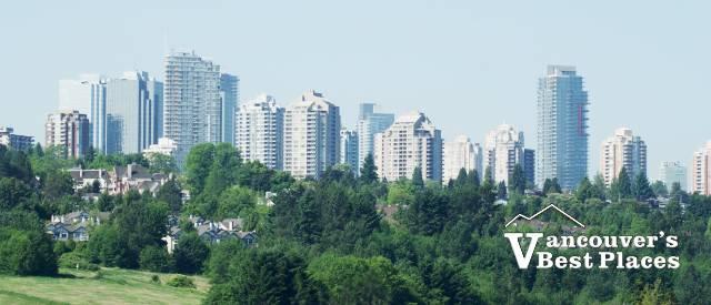 Metrotown View from Deer Lake