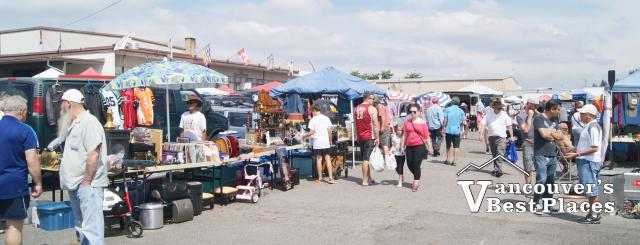 Shoppers and Vendors at Cloverdale Market