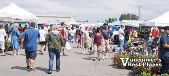 Shoppers at Cloverdale Flea Market
