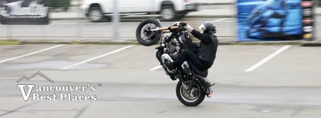 Vancity Stunt Rider on a Harley