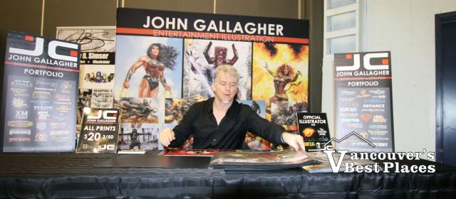 John Gallagher at Vancouver Comic Show