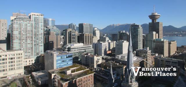 Cathedral Spire and Downtown Vancouver
